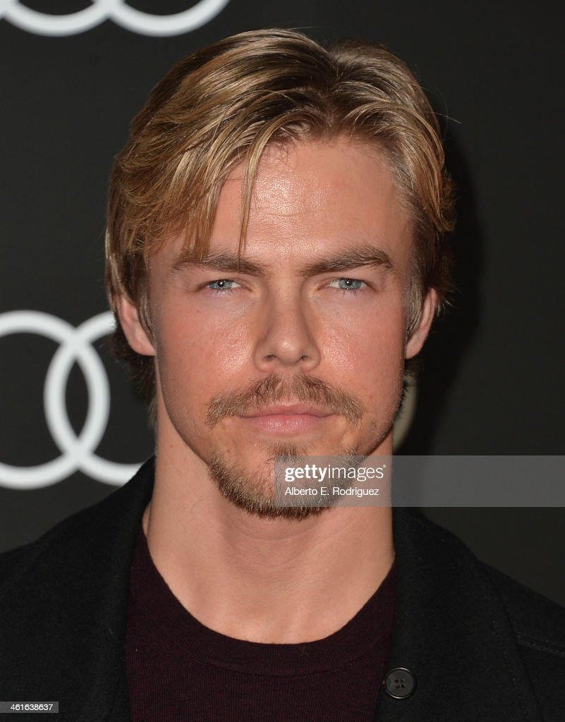 Professional dancer Derek Hough arrives to Audi Celebrates Golden Globes Weekend at Cecconi's Restaurant on January 9, 2014 in Los Angeles, California.