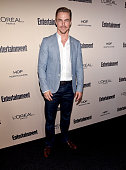 Professional dancer Derek Hough attends the 2015 Entertainment Weekly PreEmmy Party at Fig Olive Melrose Place on September 18 2015 in West Hollywood...