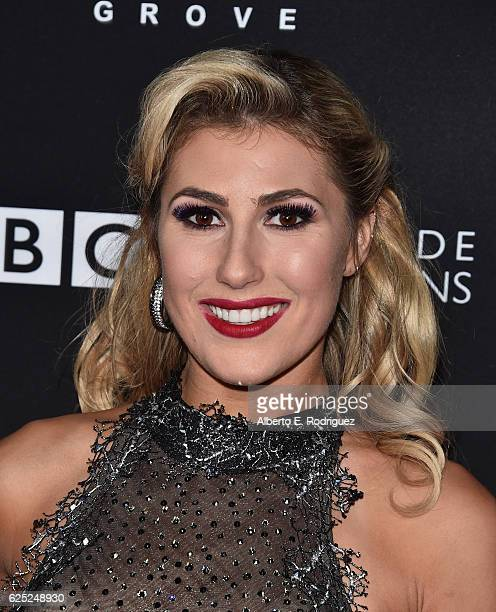 Professional dancer Emma Slater attends ABC's 'Dancing With The Stars' Season 23 Finale at The Grove on November 22 2016 in Los Angeles California