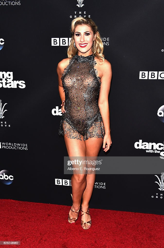 Professional dancer Emma Slater attends ABC's 'Dancing With The Stars' Season 23 Finale at The Grove on November 22, 2016 in Los Angeles, California.