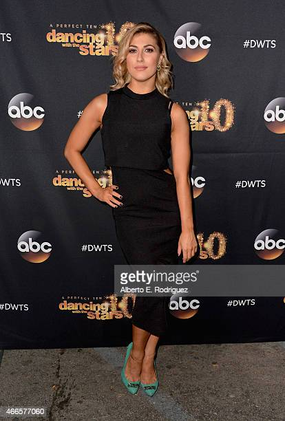 Professional dancer Emma Slater attends the premiere of ABC's 'Dancing With The Stars' season 20 at HYDE Sunset Kitchen Cocktails on March 16 2015 in...