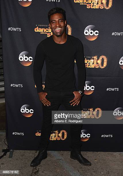 Professional dancer Keo Motsepe attends the premiere of ABC's 'Dancing With The Stars' season 20 at HYDE Sunset Kitchen Cocktails on March 16 2015 in...