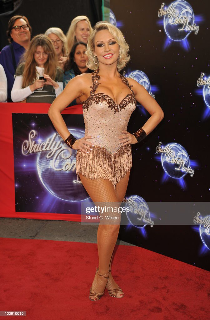 Professional dancer Kristina Rihanoff attends the 'Strictly Come Dancing' Season 8 Launch Show at BBC Television Centre on September 8, 2010 in London, England.