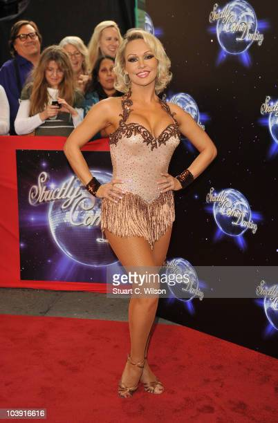 Professional dancer Kristina Rihanoff attends the 'Strictly Come Dancing' Season 8 Launch Show at BBC Television Centre on September 8 2010 in London...