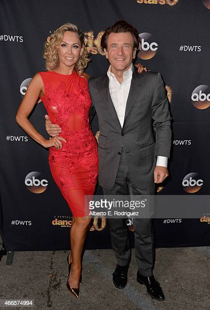 Professional dancer Kym Johnson and inverstor Robert Herjavec attend the premiere of ABC's 'Dancing With The Stars' season 20 at HYDE Sunset Kitchen...