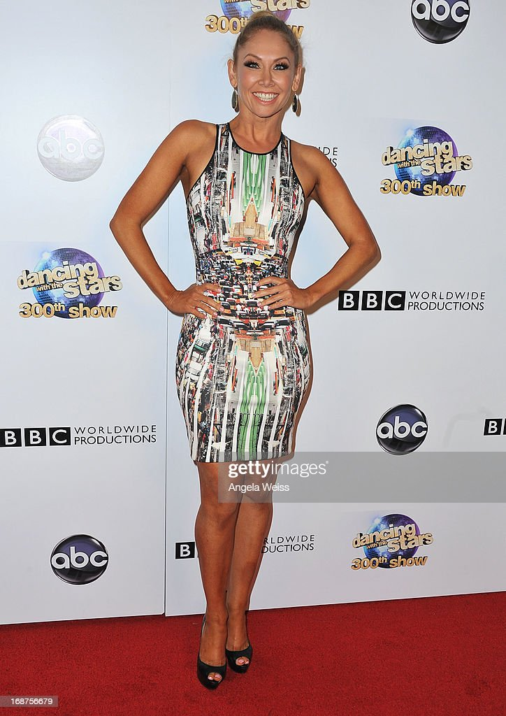 Professional dancer Kym Johnson arrives at ABC's 'Dancing With The Stars' 300th Episode Celebration at Boulevard3 on May 14, 2013 in Hollywood, California.