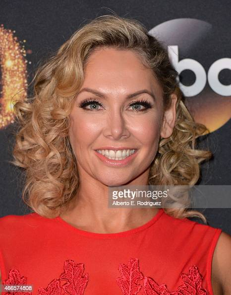 Professional dancer Kym Johnson attends the premiere of ABC's 'Dancing With The Stars' season 20 at HYDE Sunset Kitchen Cocktails on March 16 2015 in...