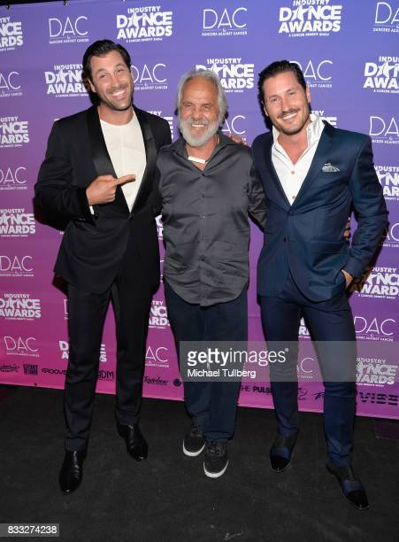 Professional dancer Maksim Chmerkovskiy actor Tommy Chong and professional dancer Val Chmerkovskiy attend the 2017 Industry Dance Awards and Cancer...