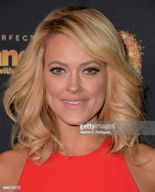 Professional dancer Peta Mergatroyd attends the premiere of ABC's 'Dancing With The Stars' season 20 at HYDE Sunset Kitchen Cocktails on March 16...