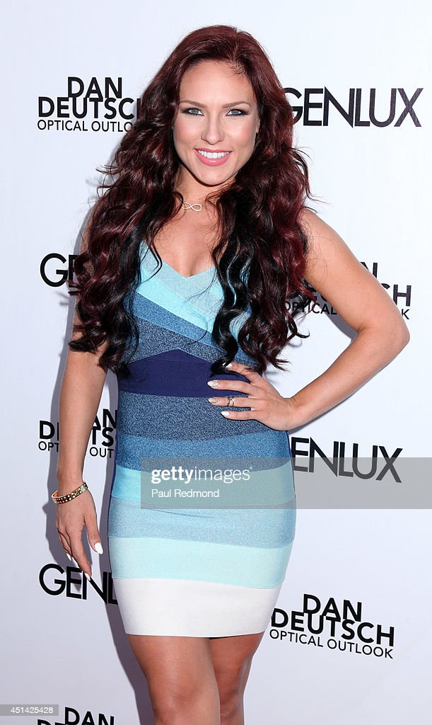Professional dancer Sharna Burgess attending the Genlux Katie Cassidy Cover party on June 28, 2014 in Los Angeles, California.