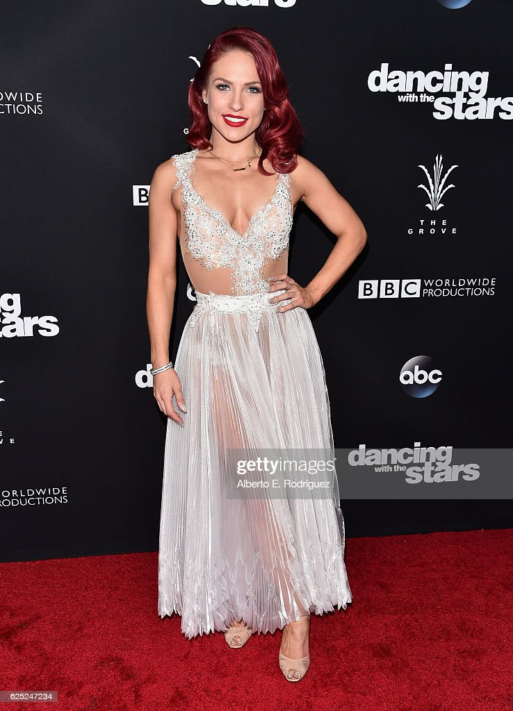 Professional dancer Sharna Burgess attends ABC's 'Dancing With The Stars' Season 23 Finale at The Grove on November 22, 2016 in Los Angeles, California.
