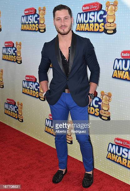 Professional dancer Val Chmerkovskiy arrives to the 2013 Radio Disney Music Awards at Nokia Theatre LA Live on April 27 2013 in Los Angeles California