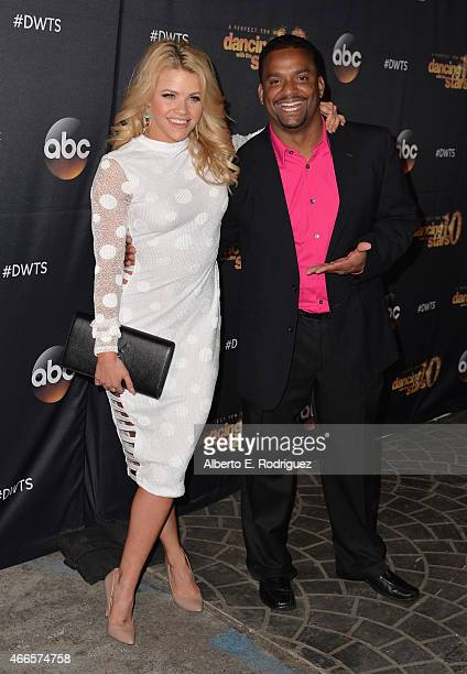Professional dancer Whitney Carson and actor Alfonso Ribeiro attend the premiere of ABC's 'Dancing With The Stars' season 20 at HYDE Sunset Kitchen...
