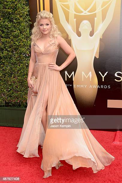 Professional dancer Witney Carson attends the 2015 Creative Arts Emmy Awards at Microsoft Theater on September 12 2015 in Los Angeles California
