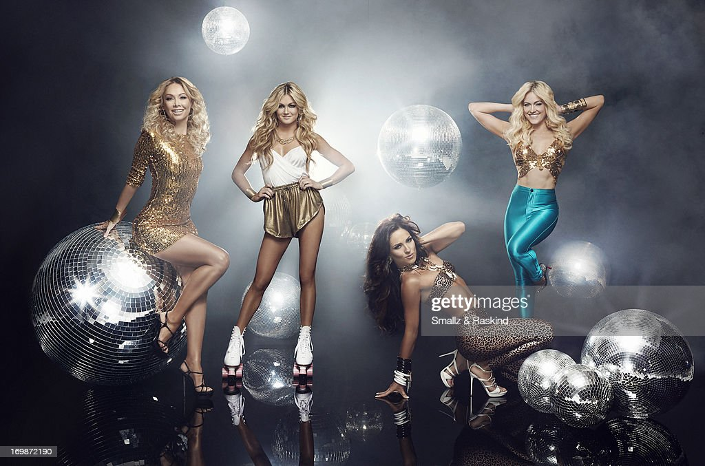 Professional dancers and cast members of the reality competition show 'Dancing with the Stars' Peta Murgatroyd, Kym Johnson, Lindsay Arnold, Sharna Burgess are photographed for Us Weekly on May 23, 2013 in Los Angeles, California. ON