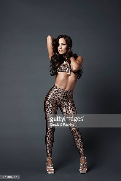 Professional dancers and cast members of the reality competition show 'Dancing with the Stars' Sharna Burgess is photographed for Us Weekly on May 23...
