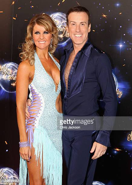 Professional dancers Anton Du Beke and Erin Boag arrive at the Strictly Come Dancing 2011 press launch at BBC Television Centre on September 7 2011...