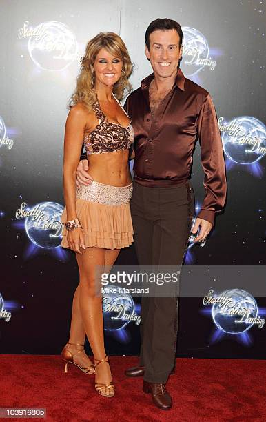 Professional dancers Erin Boag and Anton du Beke attend the 'Strictly Come Dancing' Series 8 Launch Show at BBC Television Centre on September 8 2010...