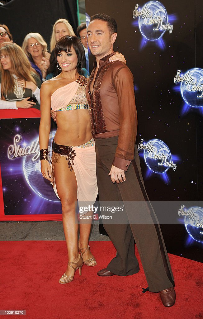 Professional dancers Flavia Cacace (L) and Vincent Simone attend the 'Strictly Come Dancing' Season 8 Launch Show at BBC Television Centre on September 8, 2010 in London, England.