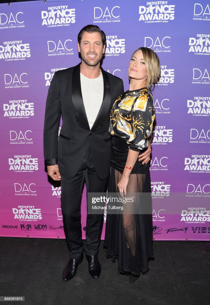 Professional dancers Maksim Chmerkovskiy and Peta Murgatroyd attend the 2017 Industry Dance Awards and Cancer Benefit Show at Avalon on August 16, 2017 in Hollywood, California.