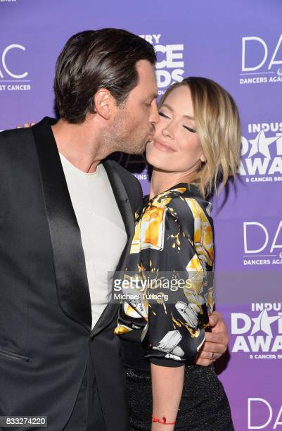 Professional dancers Maksim Chmerkovskiy and Peta Murgatroyd attend the 2017 Industry Dance Awards and Cancer Benefit Show at Avalon on August 16...