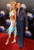 Professional dancers Natalie Lowe and Brendan Cole arrive at the Strictly Come Dancing 2011 press launch at BBC Television Centre on September 7 2011...