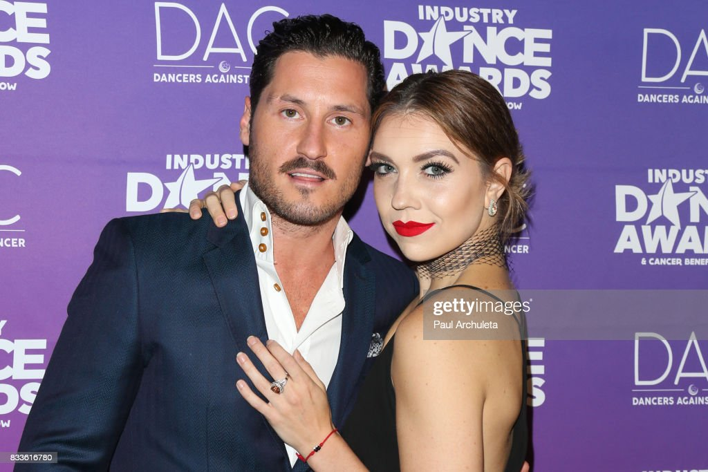Professional Dancers Val Chmerkovskiy and Jenna Johnson attend the 2017 Industry Dance Awards and Cancer Benefit show at Avalon on August 16, 2017 in Hollywood, California.