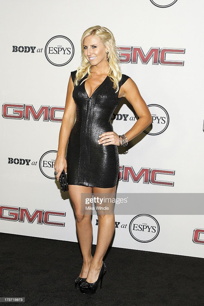 Professional Drag racer Courtney Force arrives at ESPN the Magazine's 'Body Issue' 5th annual ESPY's event at Lure on July 16, 2013 in Hollywood, California.