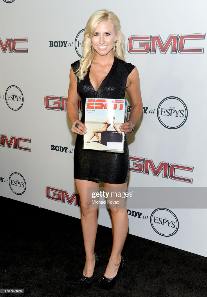 Professional Drag racer <a gi-track='captionPersonalityLinkClicked' href=/galleries/search?phrase=Courtney+Force&family=editorial&specificpeople=8957288 ng-click='$event.stopPropagation()'>Courtney Force</a> attends ESPN The Magazine 5th annual 'Body Issue' party at Lure on July 16, 2013 in Hollywood, California.