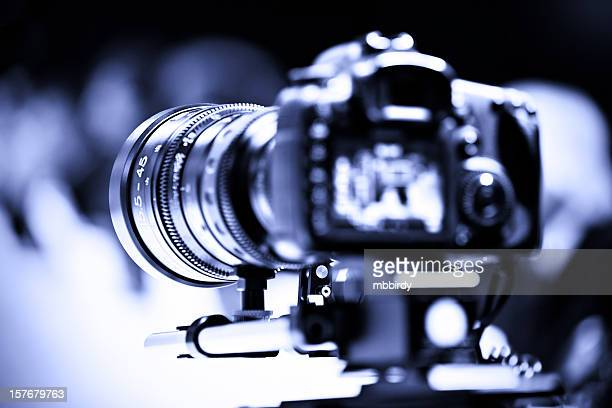 Professional DSLR camera with zoom lens