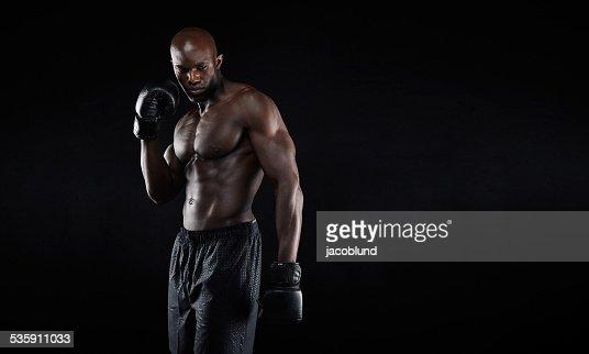 Retrato de un profesional de combate : Foto de stock