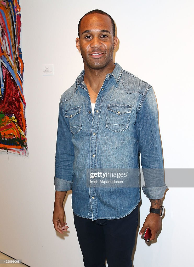 Professional football player Bret Lockett attends a ZTPR Agency Summer Soiree at Gallerie Sparta on July 12, 2014 in West Hollywood, California.