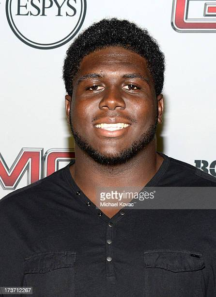 Professional football player Chance Warmack attends ESPN The Magazine 5th annual 'Body Issue' party at Lure on July 16 2013 in Hollywood California