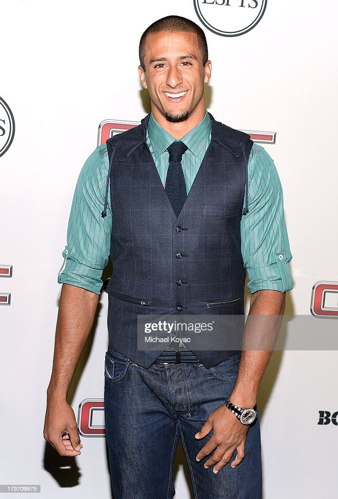 Professional football player Colin Kaepernick attends ESPN The Magazine 5th annual 'Body Issue' party at Lure on July 16, 2013 in Hollywood, California.