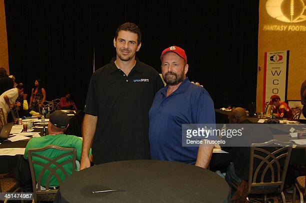 Professional football player Don Silvestri and professional poker player Dennis Phillips attend the 2008 World Championship of Fantacy Football...