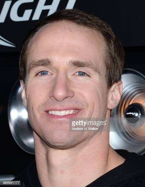 Professional football player Drew Brees attends the Bud Light Madden Bowl at The Bud Light Hotel on January 30 2014 in New York City