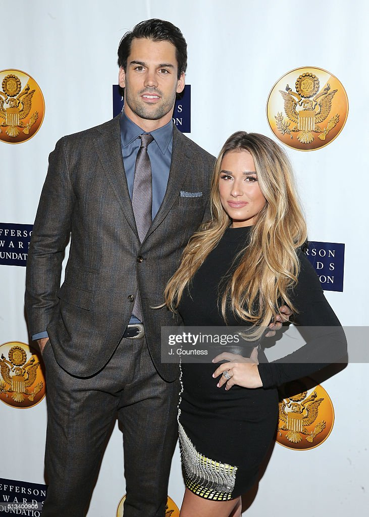 Professional Football Player <a gi-track='captionPersonalityLinkClicked' href=/galleries/search?phrase=Eric+Decker&family=editorial&specificpeople=3950667 ng-click='$event.stopPropagation()'>Eric Decker</a> and singer <a gi-track='captionPersonalityLinkClicked' href=/galleries/search?phrase=Jessie+James+Decker&family=editorial&specificpeople=12877618 ng-click='$event.stopPropagation()'>Jessie James Decker</a> attend the Jefferson Awards Foundation's 5th Annual NYC National Ceremony at Gotham Hall on March 2, 2016 in New York City.