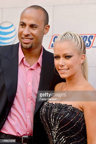 Professional football player Hank Baskett and TV personality Kendra Wilkinson arrive at Spike TV's 6th Annual 'Guys Choice Awards' at Sony Pictures...