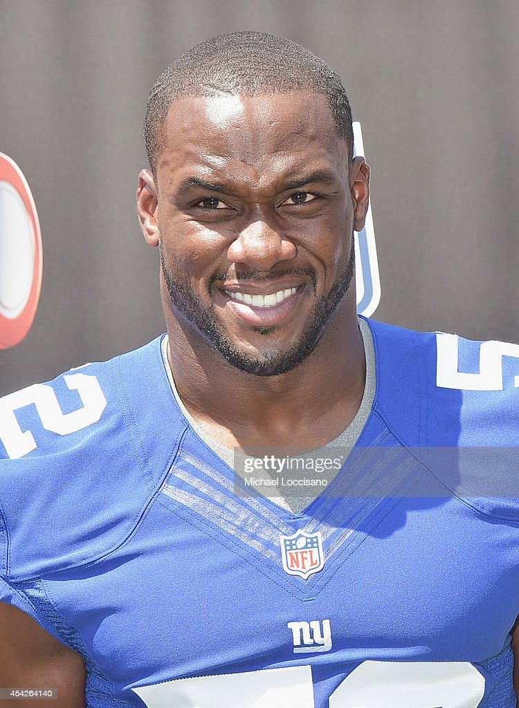 Professional football player <a gi-track='captionPersonalityLinkClicked' href=/galleries/search?phrase=Jon+Beason&family=editorial&specificpeople=2109827 ng-click='$event.stopPropagation()'>Jon Beason</a> attends an interactive tour of MetLife Stadium on August 27, 2014 in East Rutherford, New Jersey.
