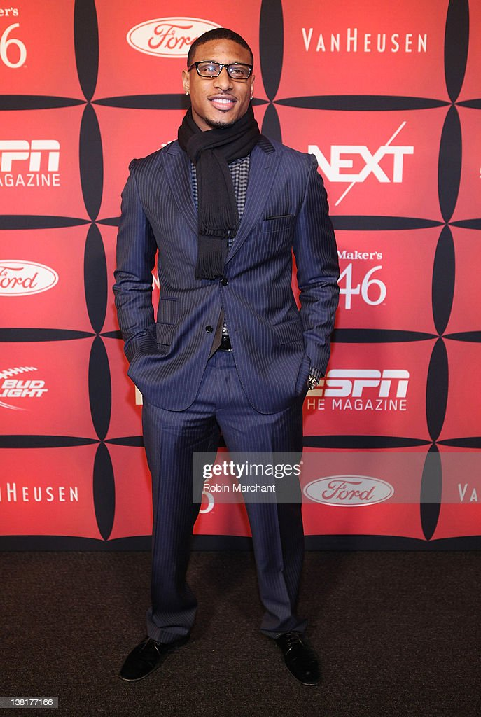 Professional football player Justin Tryon attends ESPN The Magazine's 'NEXT' Event on February 3 2012 in Indianapolis Indiana