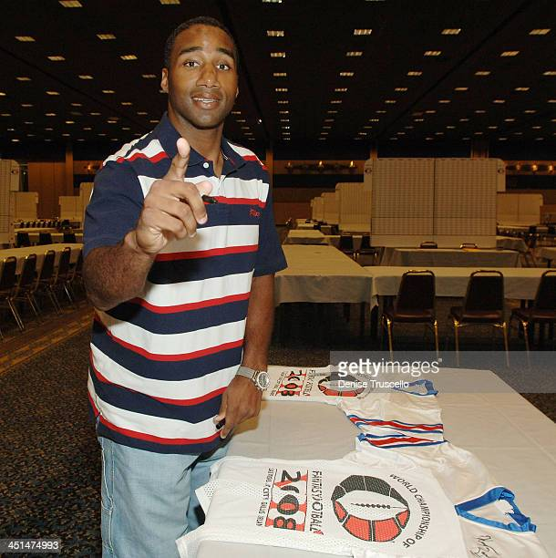 Professional football player Kenyon Rasheed attends the 2008 World Championship of Fantacy Football Celebrity League at the Hilton Hotel and Casino...