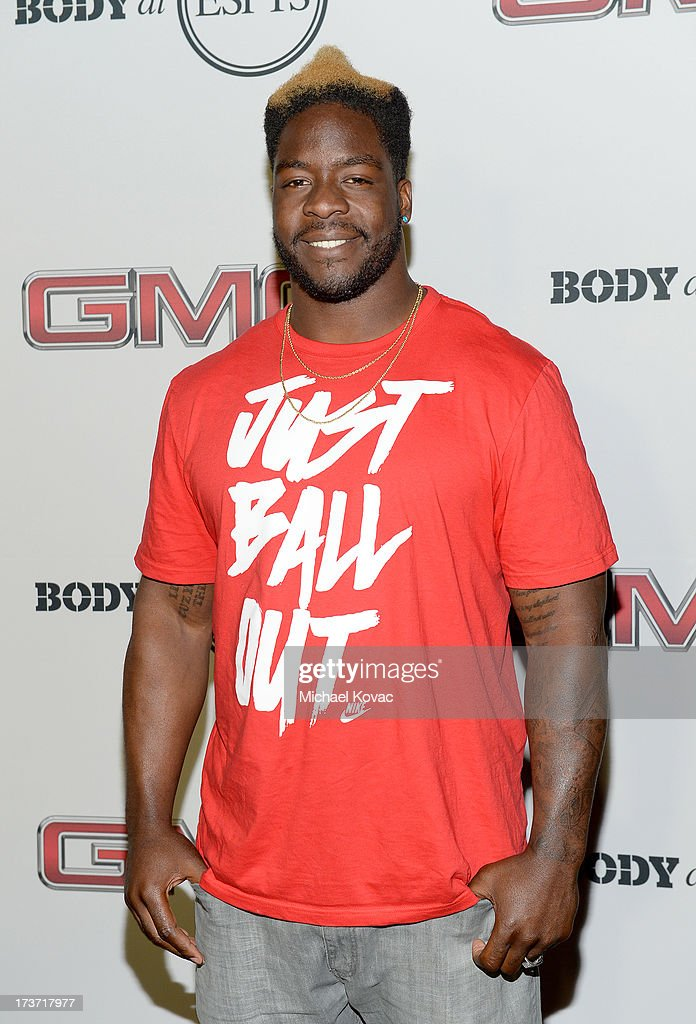 Professional football player Lamarr Houston attends ESPN the Magazine 5th annual 'Body Issue' party at Lure on July 16, 2013 in Hollywood, California.