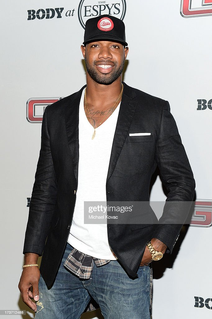 Professional football player <a gi-track='captionPersonalityLinkClicked' href=/galleries/search?phrase=Marcedes+Lewis&family=editorial&specificpeople=453286 ng-click='$event.stopPropagation()'>Marcedes Lewis</a> attends ESPN the Magazine 5th annual 'Body Issue' party at Lure on July 16, 2013 in Hollywood, California.