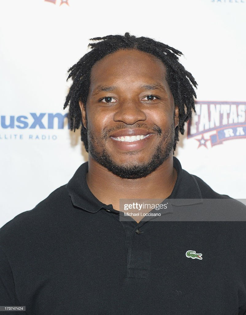 Professional Football player Maurice Jones-Drew attends the SiriusXM Celebrity Fantasy Football Draft at Hard Rock Cafe - Times Square on July 17, 2013 in New York City.