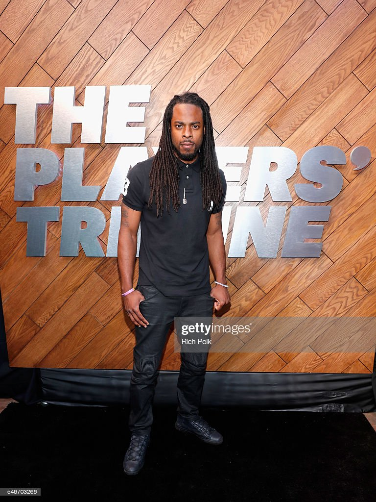Professional football player Richard Sherman attends The Players' Tribune Summer Party at No Vacancy on July 12 2016 in Los Angeles California