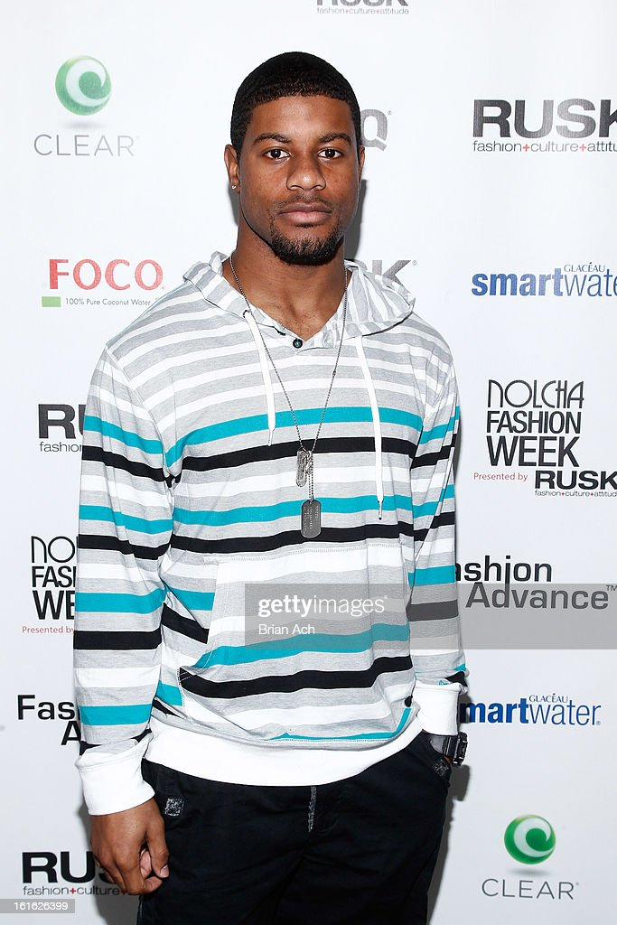 Professional football player Robert McClain attends Nolcha Fashion Week New York 2013 presented by RUSK at Pier 59 Studios on February 13, 2013 in New York City.
