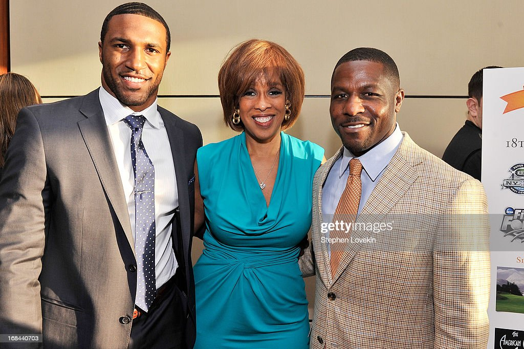 Professional football player Ryan Mundy, Oprah Magazine Editor-at-Large, Gayle King, and former professional football player Ray Mickens attend Safe Horizon's 35th anniversary celebration at its annual gala at Pier Sixty at Chelsea Piers on May 9, 2013 in New York City.