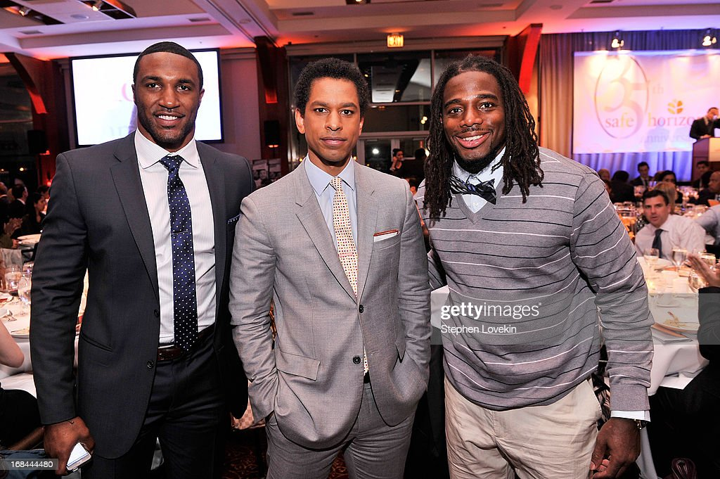 Professional football player Ryan Mundy, TV personality Toure, and professional football player William Gay attend Safe Horizon's 35th anniversary celebration at its annual gala at Pier Sixty at Chelsea Piers on May 9, 2013 in New York City.