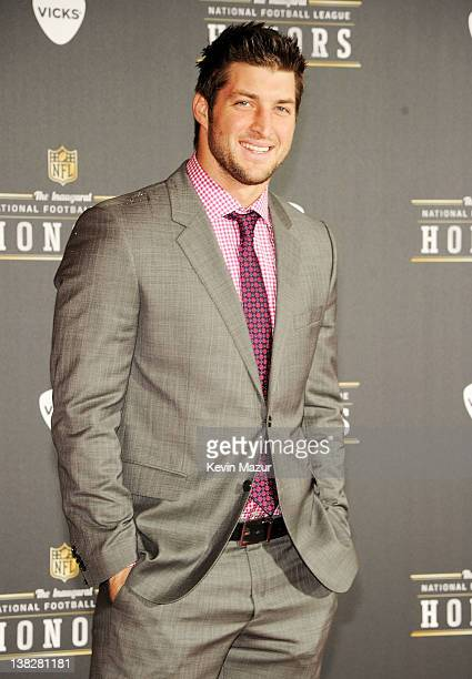 Professional Football Player Tim Tebow attends the 2012 NFL Honors at the Murat Theatre on February 4 2012 in Indianapolis Indiana