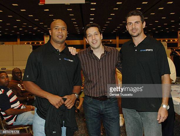 Professional football player Todd Lyght Frank Chechel and Don Silvestri attend the 2008 World Championship of Fantacy Football Celebrity League at...